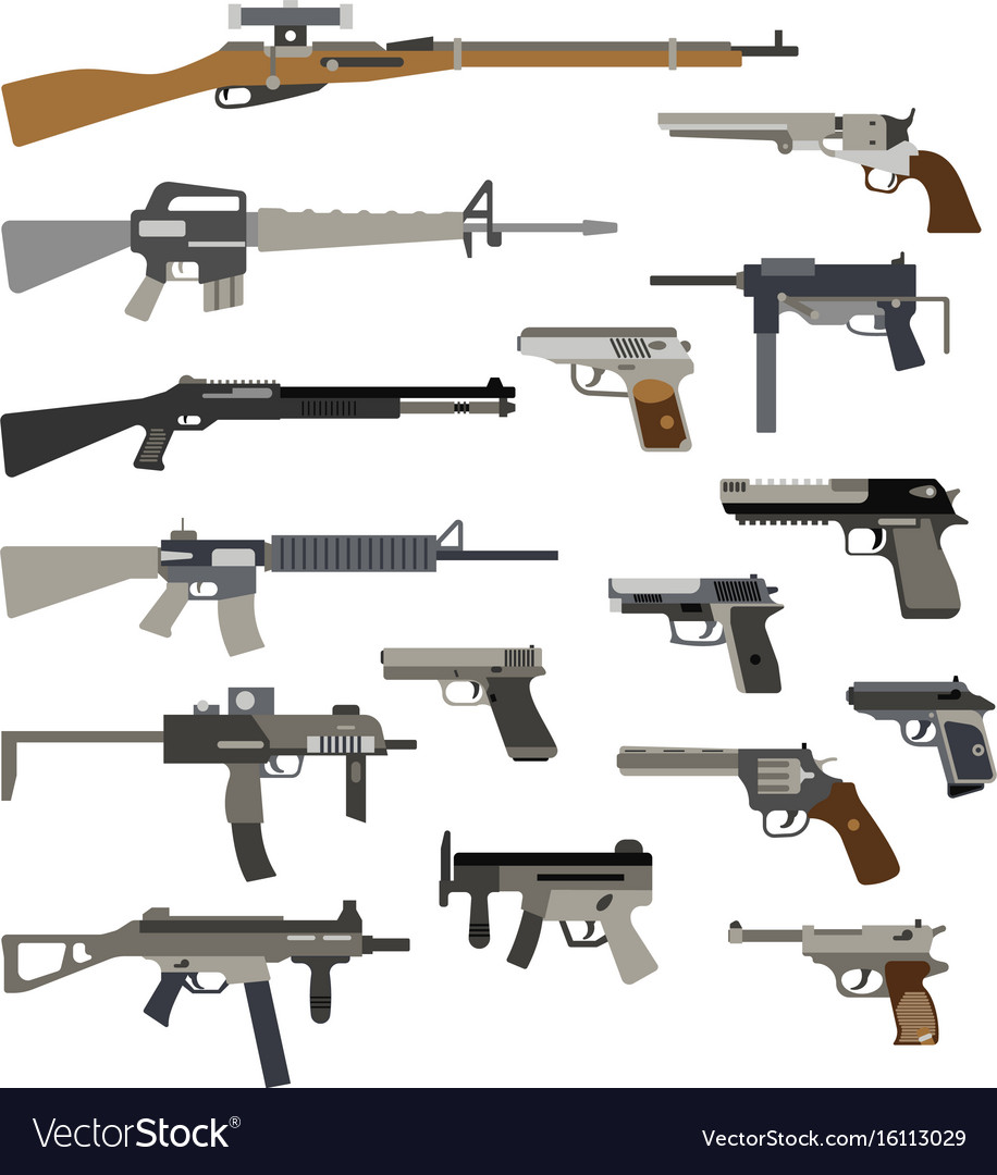 different automatic weapons