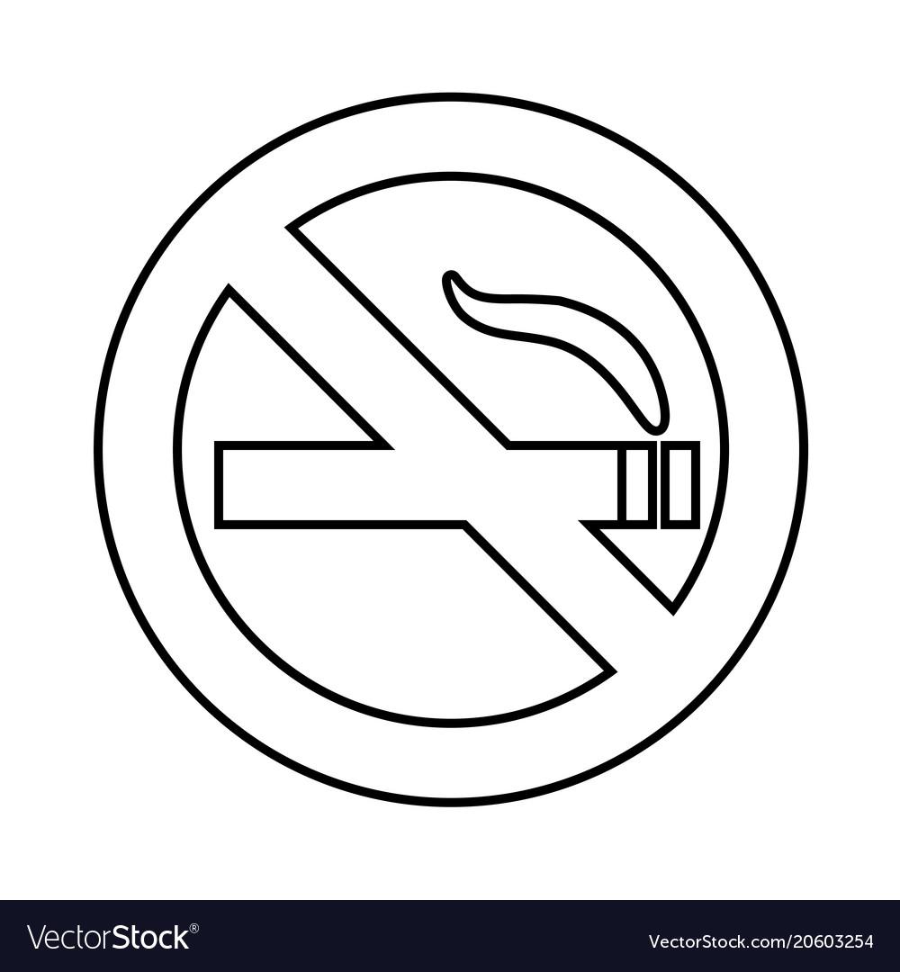 no smoke area line