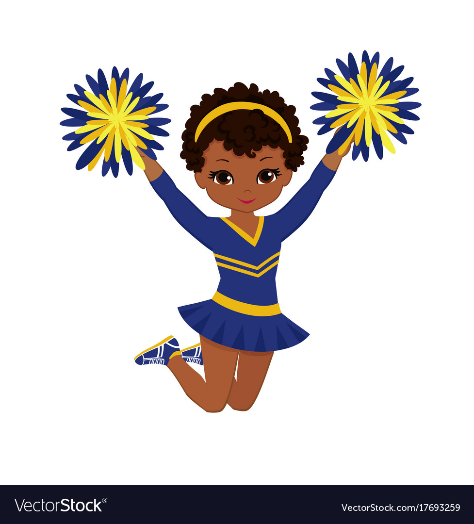 hight resolution of cheerleader clipart free