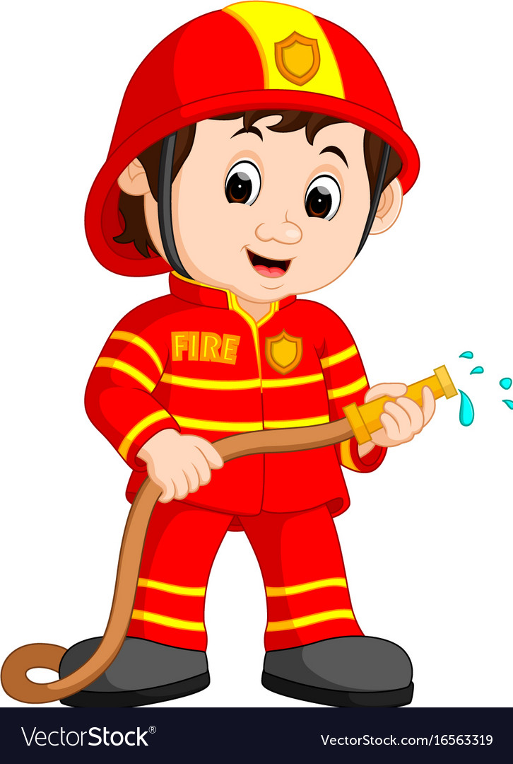cute fireman cartoon