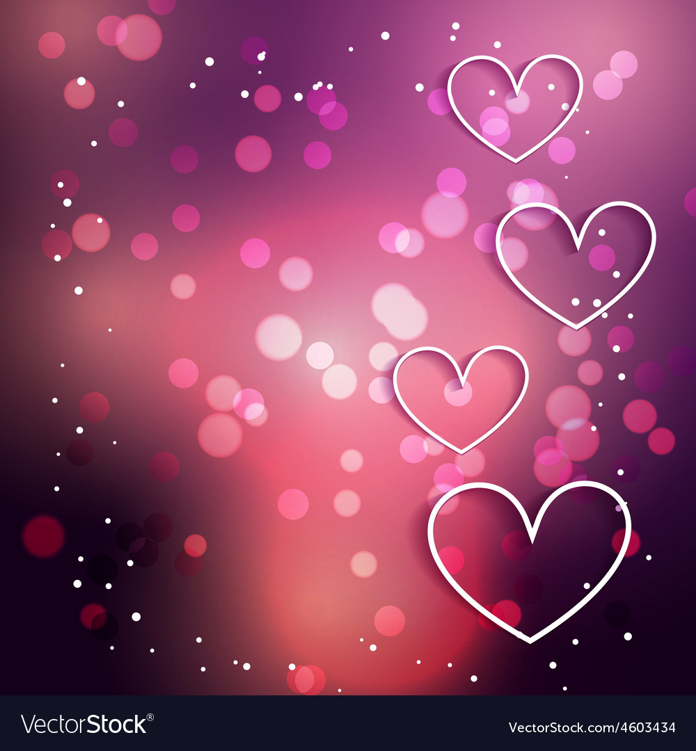 heart background with bokeh