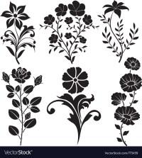 Flowers decorative Royalty Free Vector Image - VectorStock