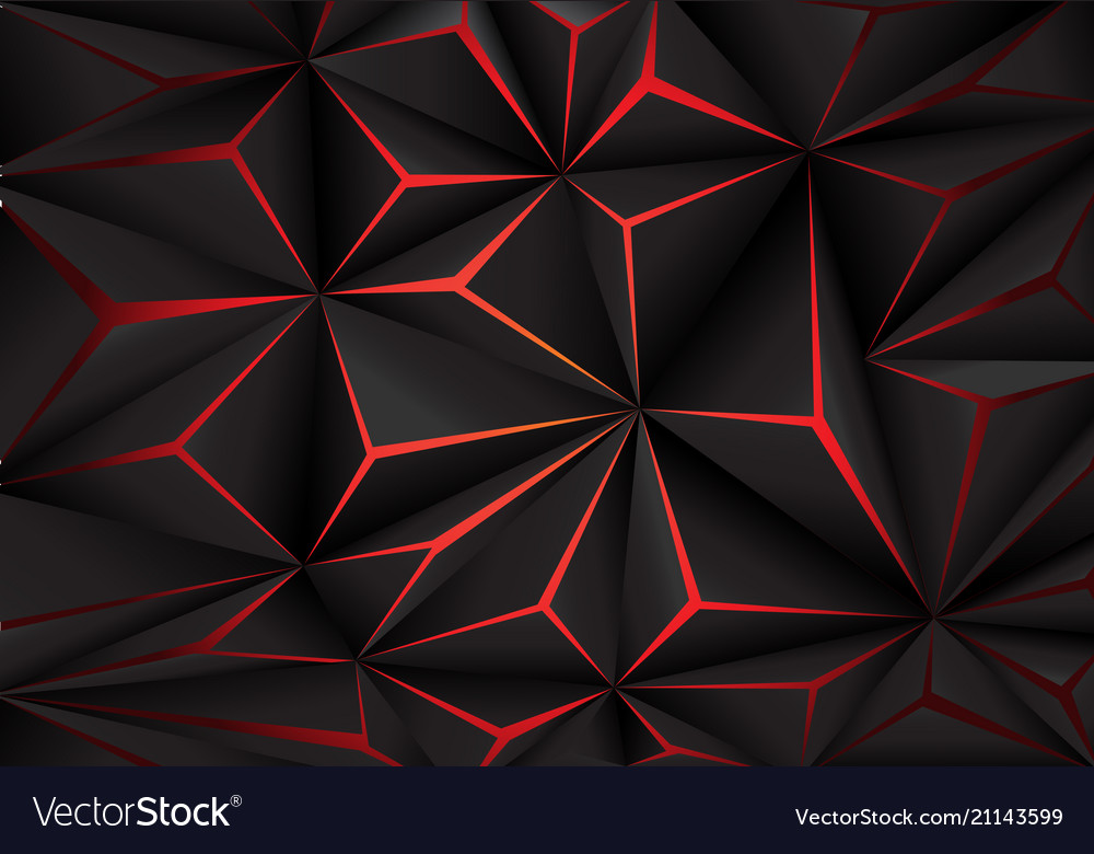 abstract black polygon red
