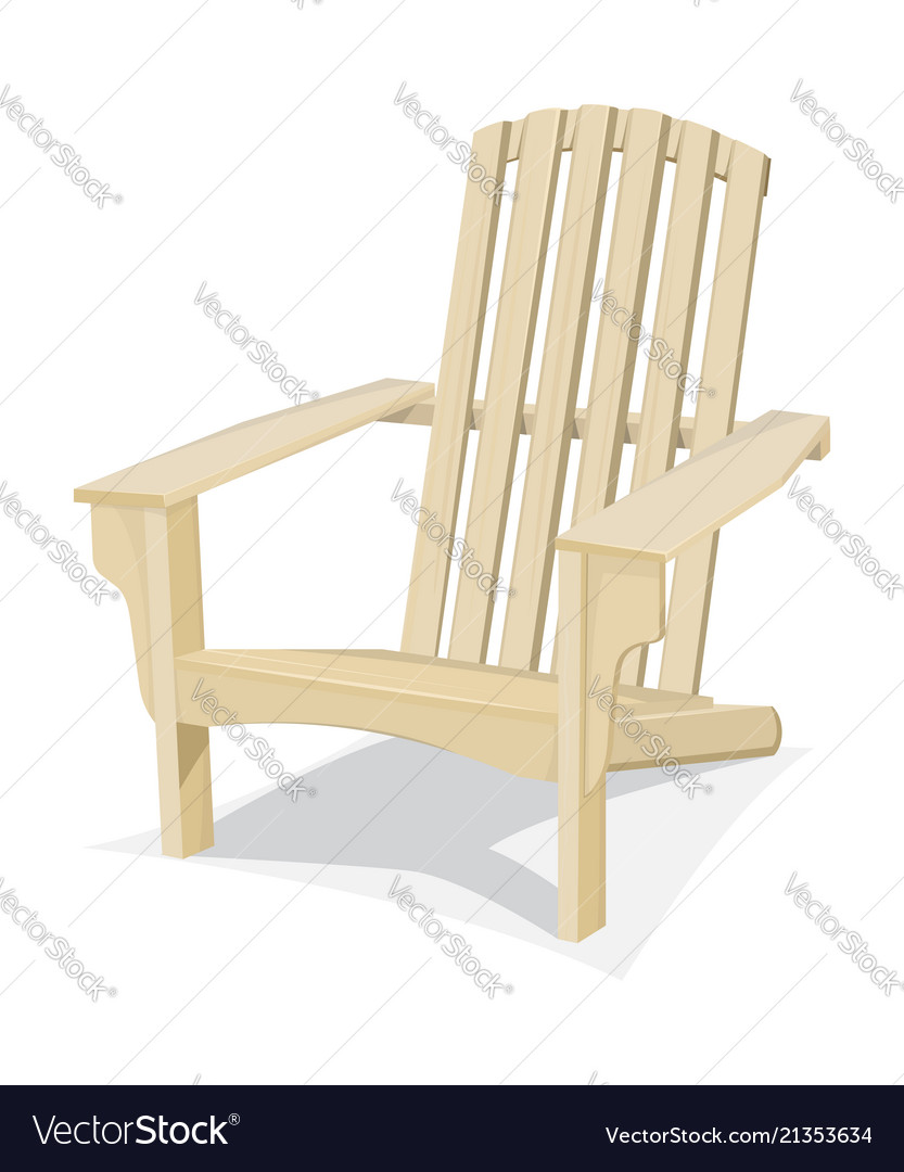 wood beach chairs sling stacking chair bright wooden royalty free vector image