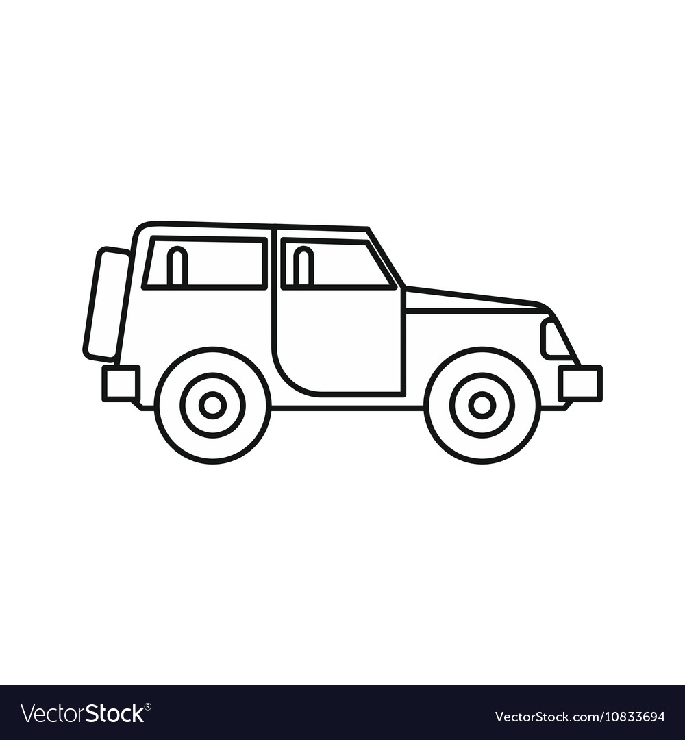 jeep icon in outline