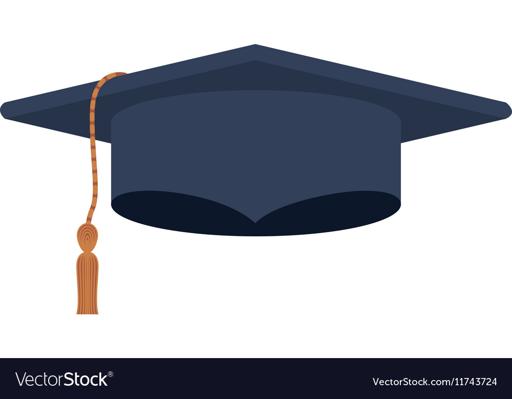 silhouette dark blue graduation