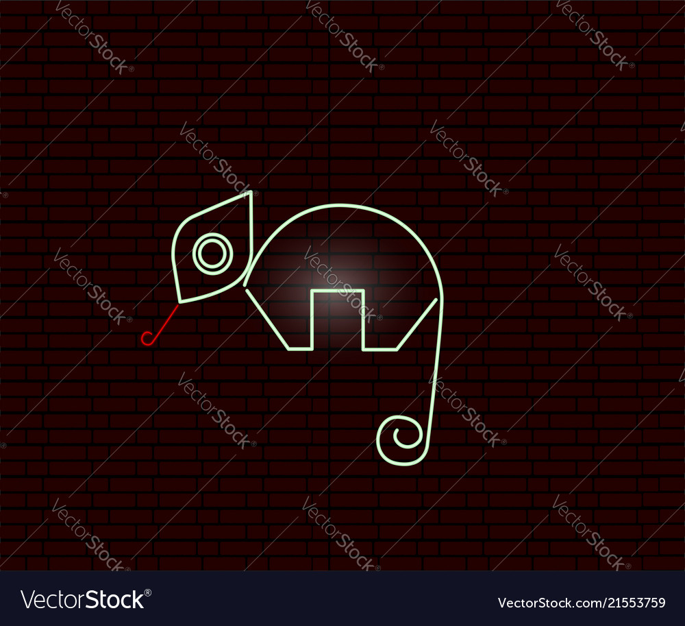 hight resolution of neon sign of an iguana vector image