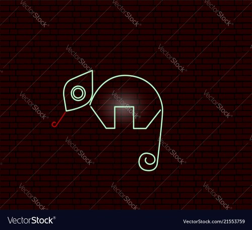 small resolution of neon sign of an iguana vector image