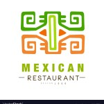 Mexican Restaurant Logo Design Authentic Vector Image