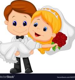 cartoon kids playing bride and groom vector image [ 1000 x 975 Pixel ]