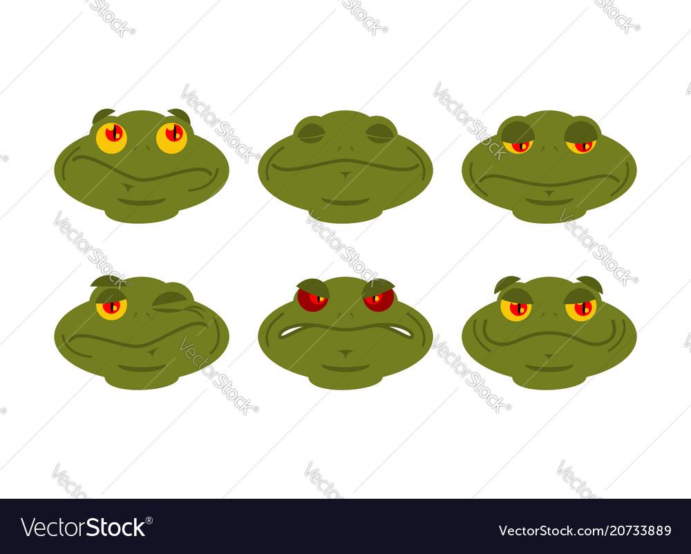 frog emoji set toad