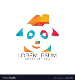 panda home shape design vector image [ 1000 x 1080 Pixel ]