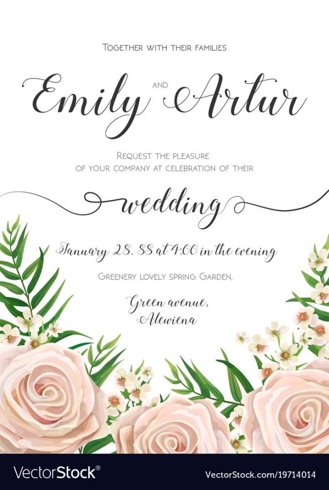 Fl Wedding Invitation Card Design With Flowers