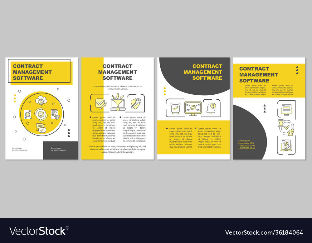 Here are more facts about pr. Contract Management Software Brochure Template Vector Image