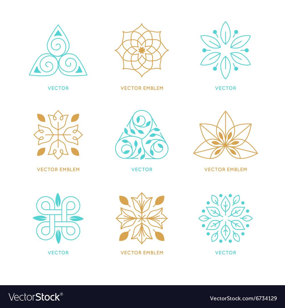 set of logo design