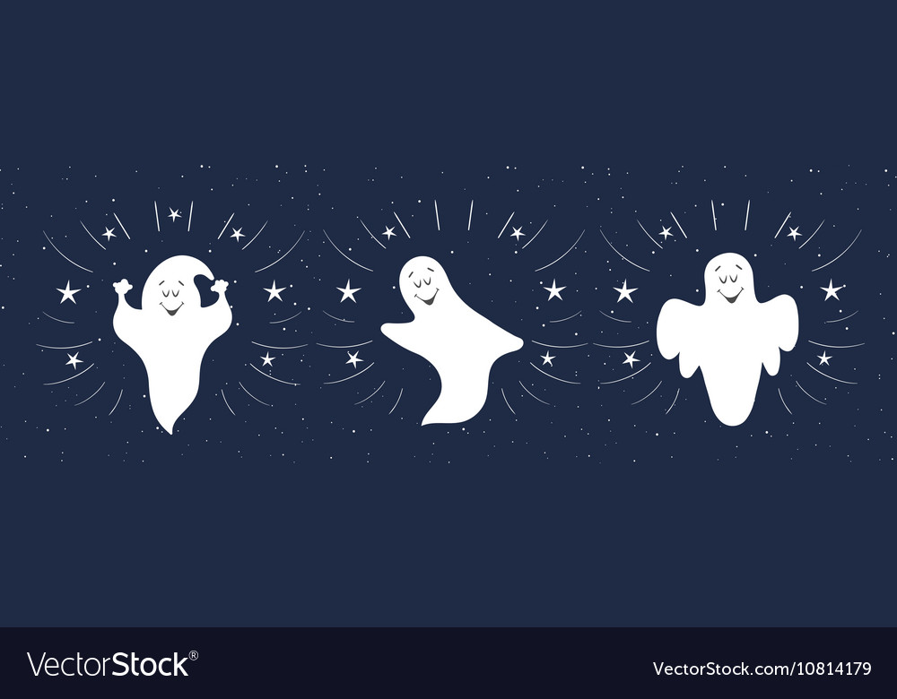 funny ghosts flying in