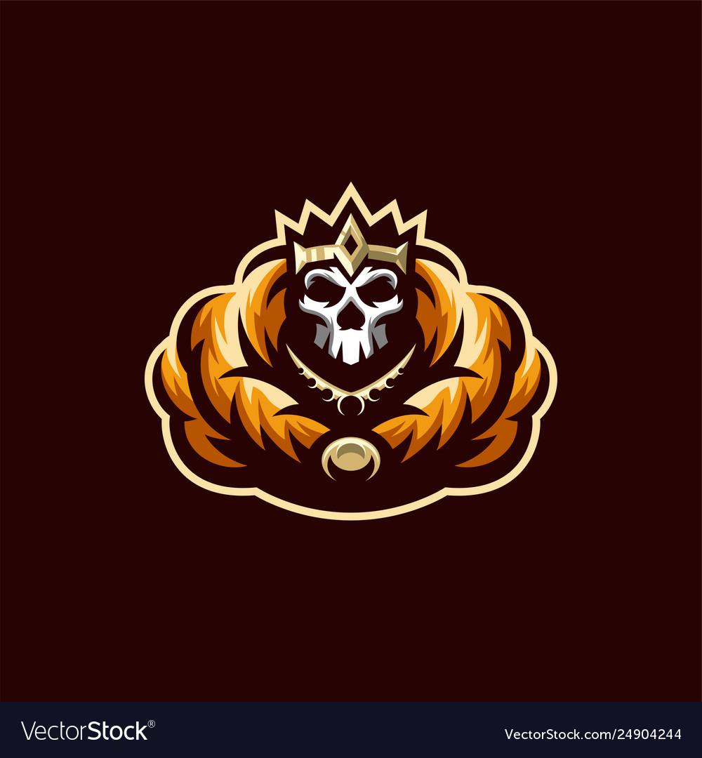 skeleton skull logo design