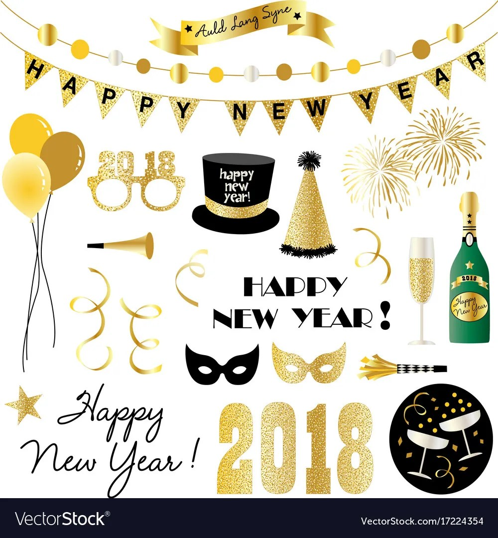 medium resolution of new years eve clipart vector image