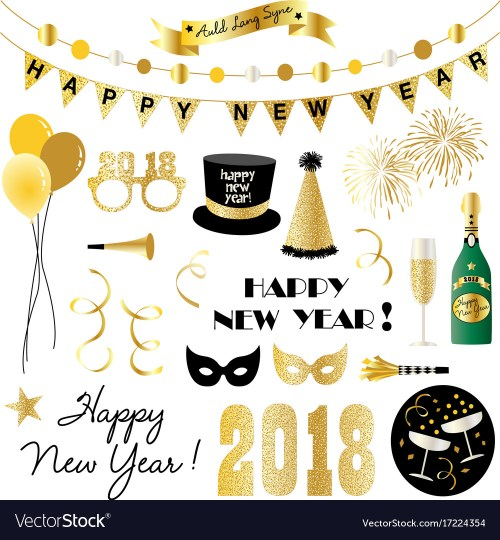 small resolution of new years eve clipart vector image