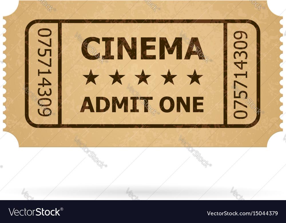 retro cinema ticket of