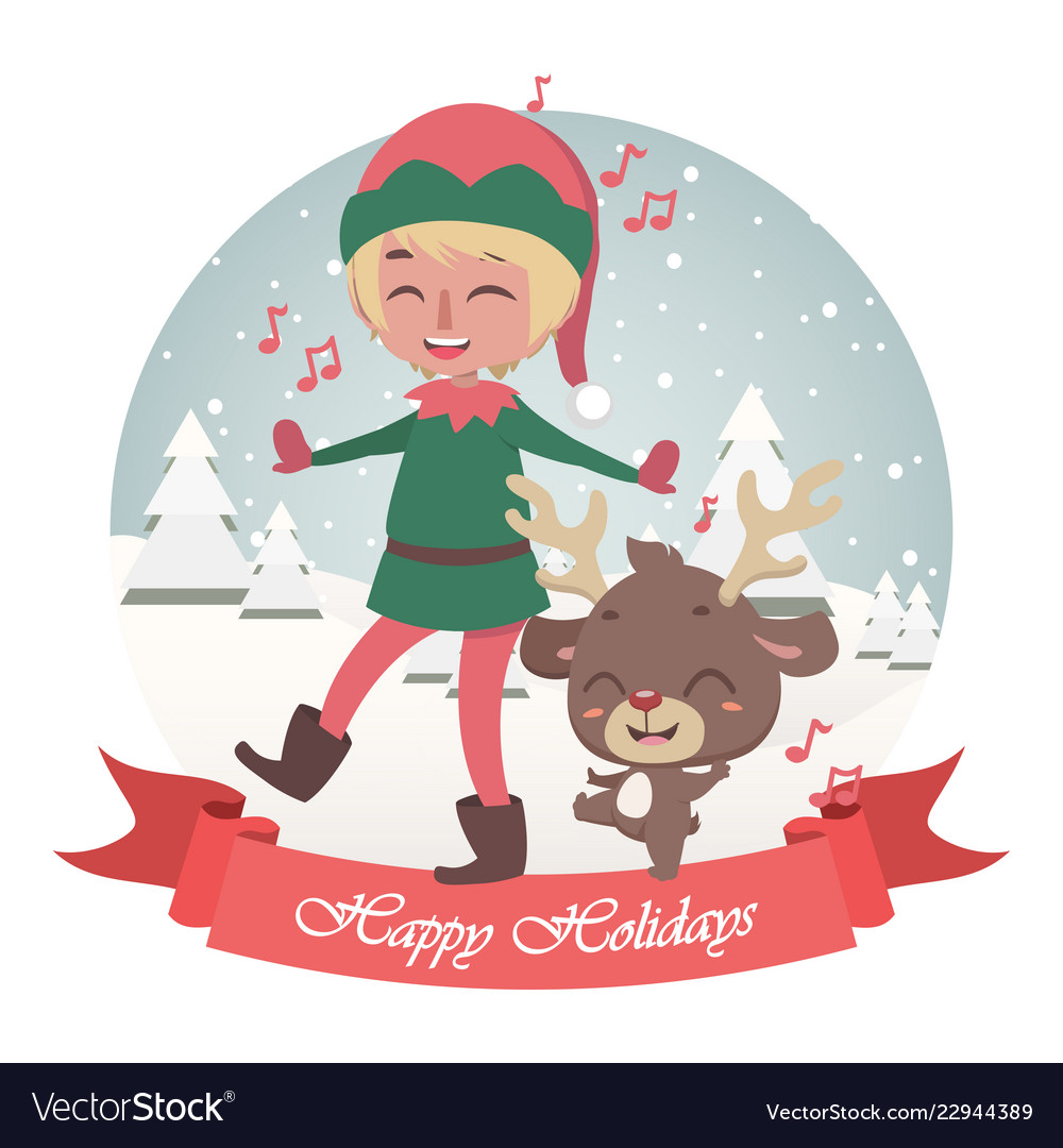 cute christmas greeting with