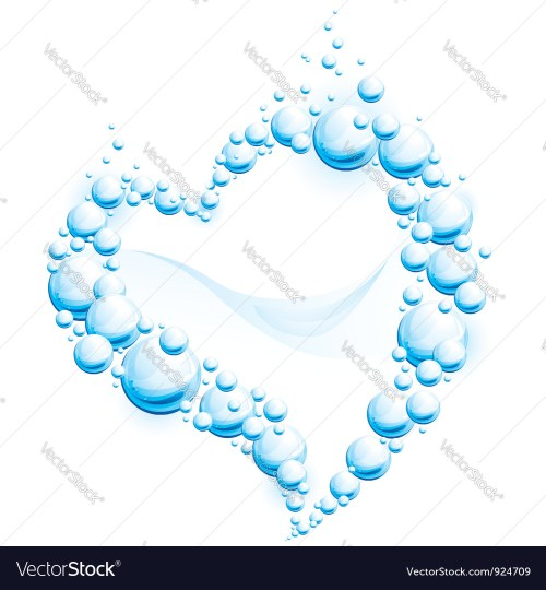 small resolution of water frame in the form of heart vector image