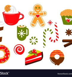 christmas sweets candy clipart vector image [ 1000 x 802 Pixel ]