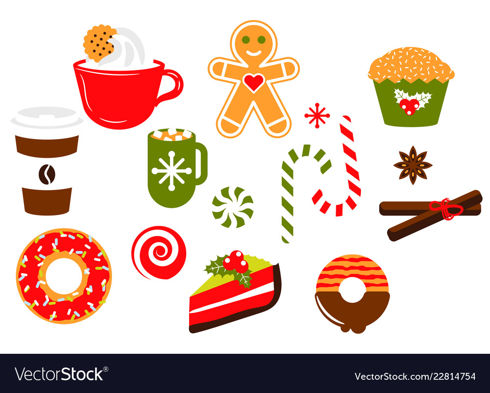 hight resolution of christmas sweets candy clipart vector image