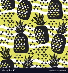 pineapple silhouette vector concept seamless pattern
