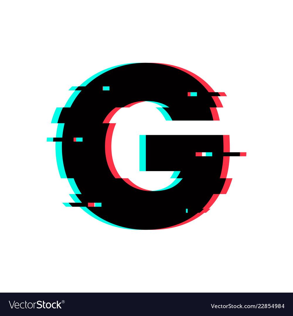 logo letter g glitch