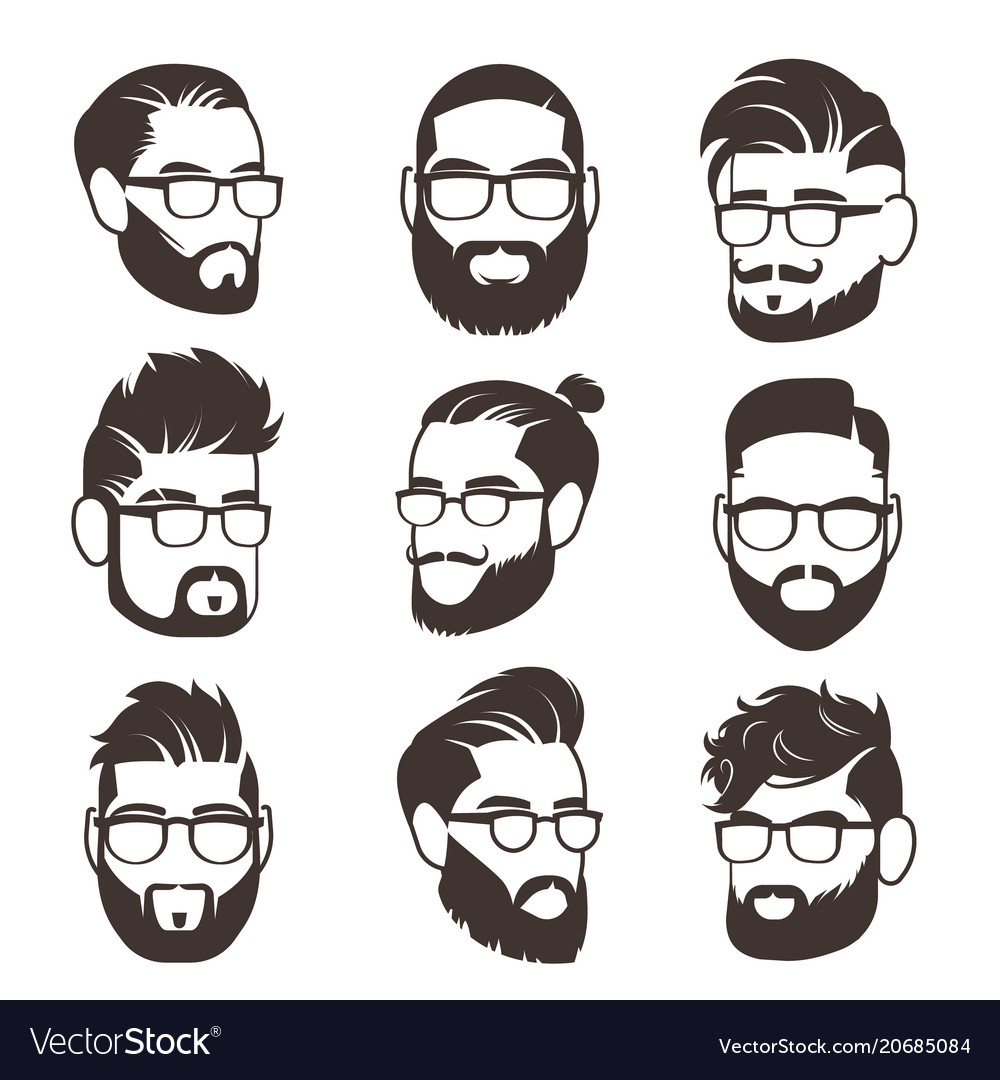 handsome bearded hipster man
