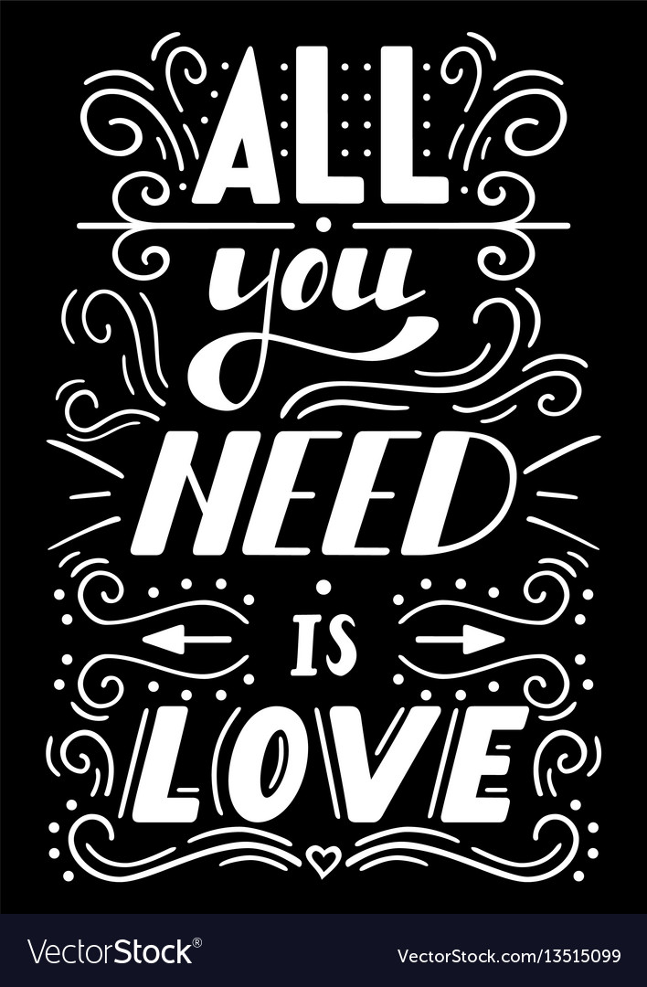Download All you need is love Royalty Free Vector Image