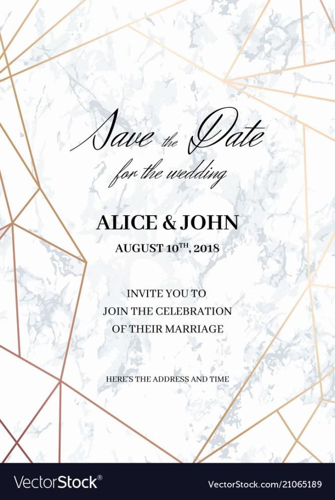 Wedding Invitations Template Of Geometric Design