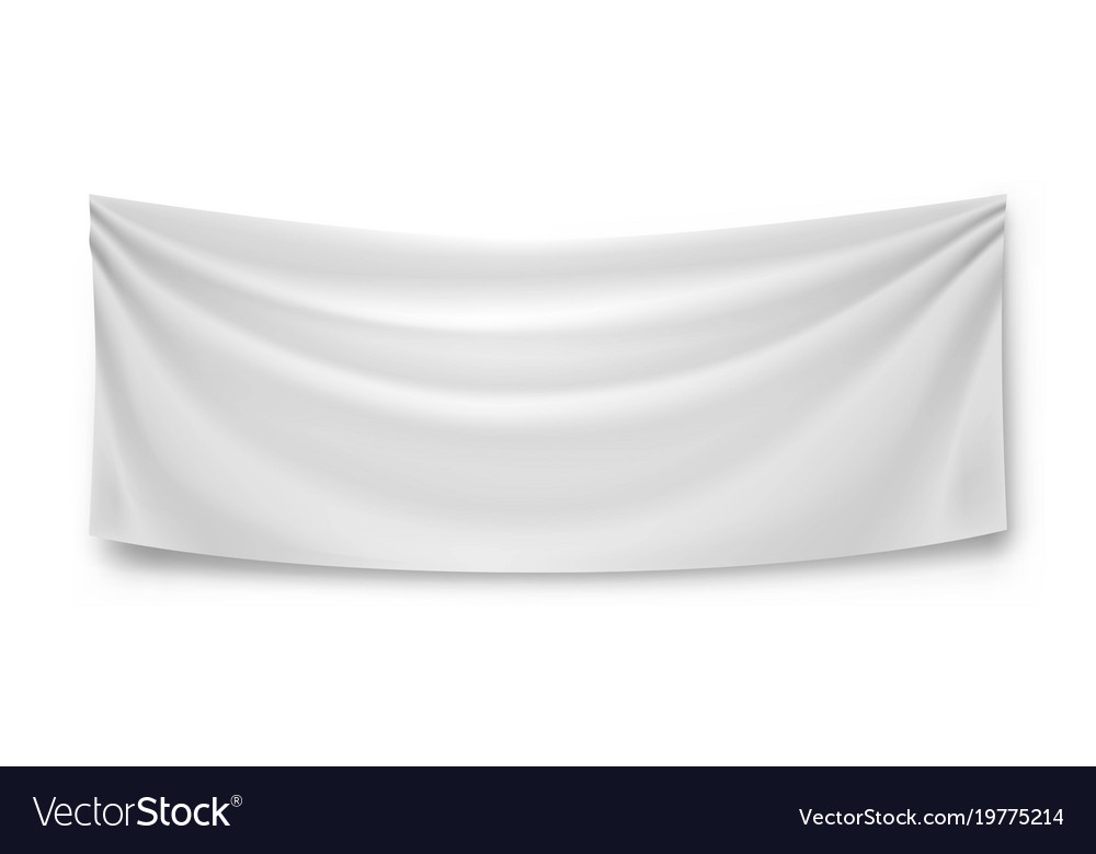 With the help of a horizontal banner mockup, you would be able to visualize how your actual banner design would look like? Blank Horizontal Banner Streamer Mockup Royalty Free Vector