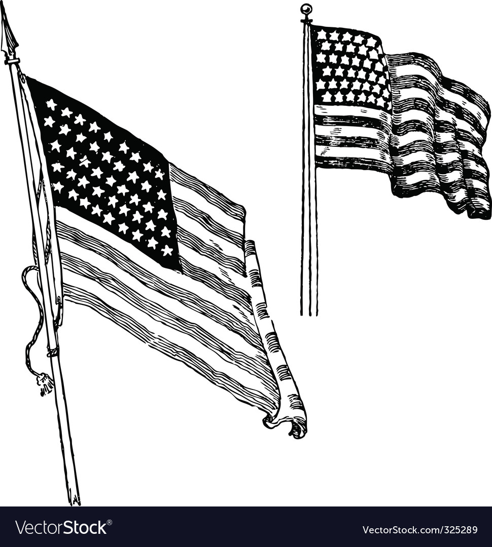us flag sketch