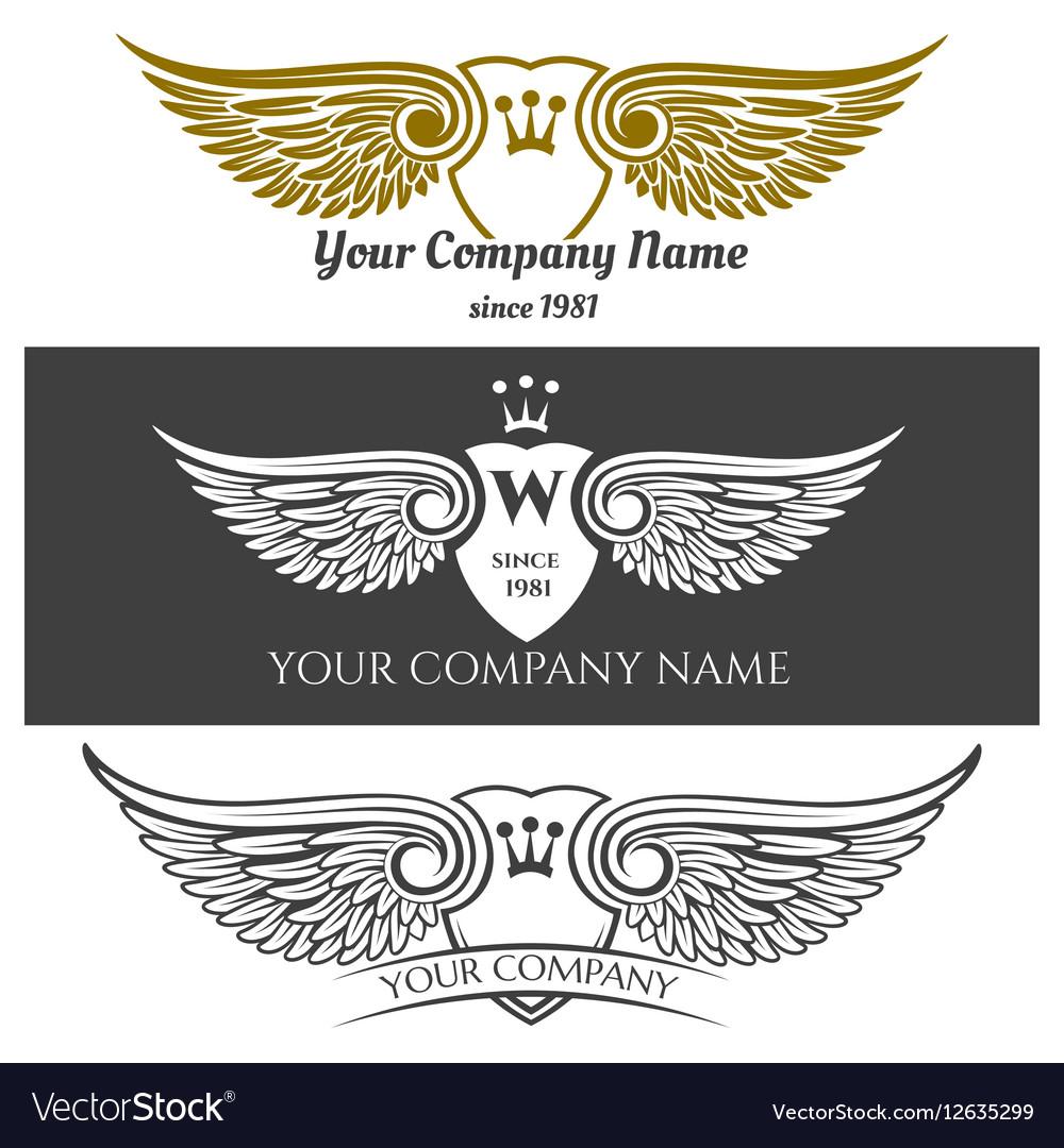 black angel wings logo