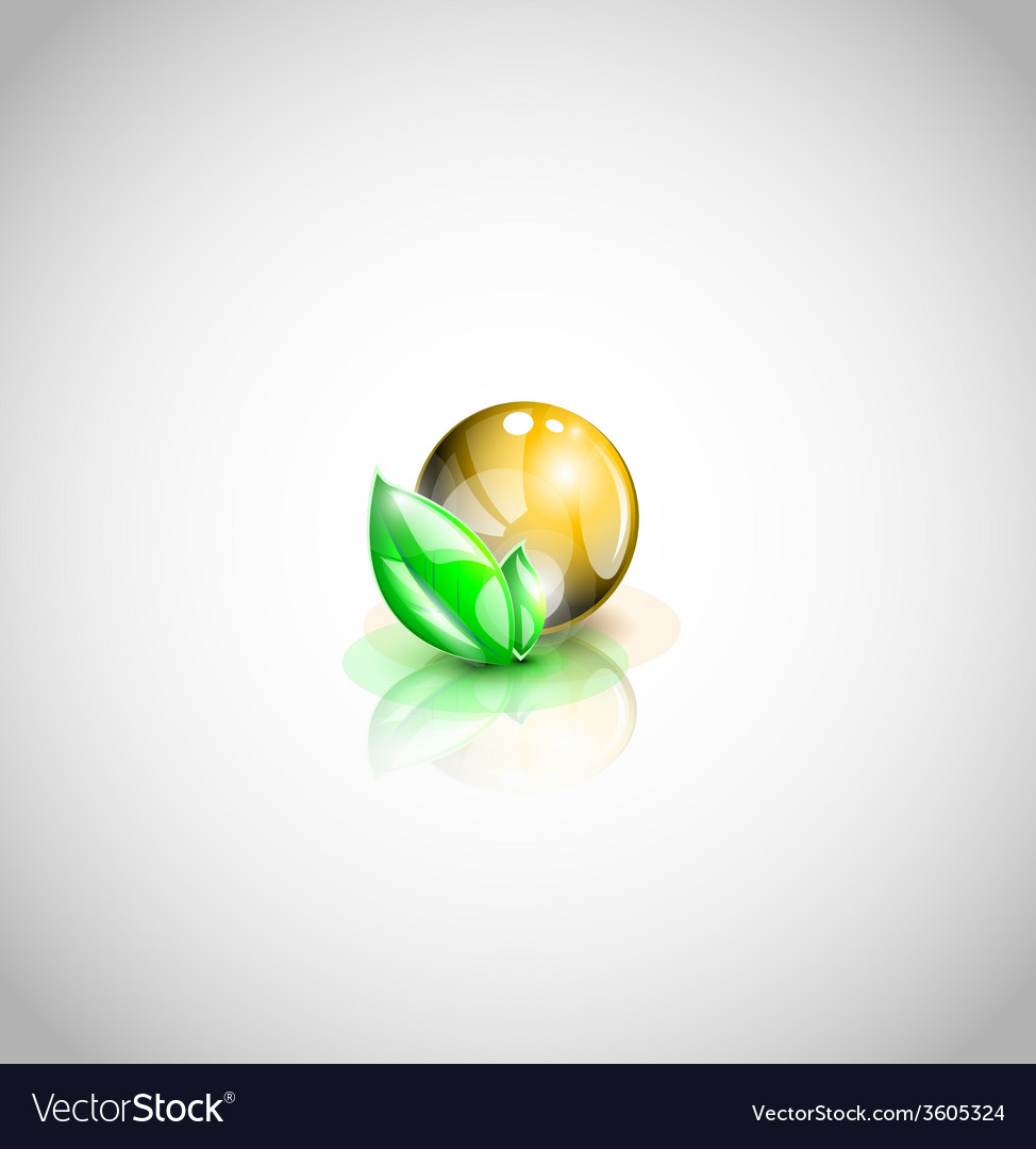 isolated oil droplet with