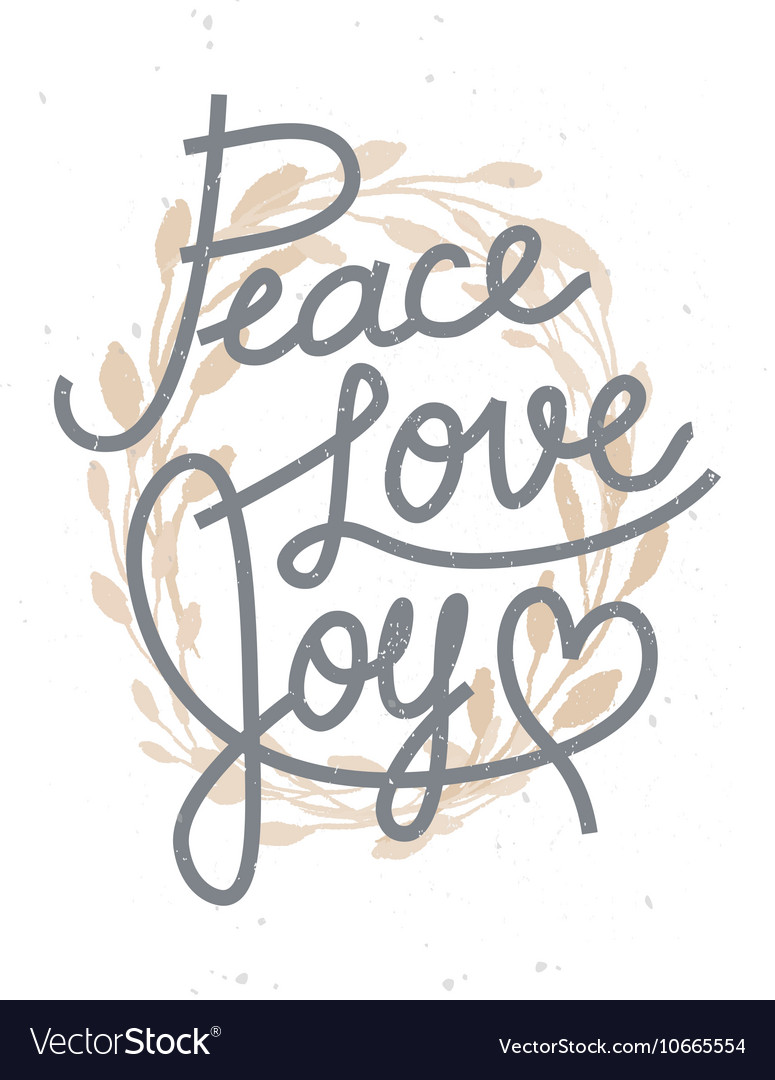 Download Peace love joy christmas lettering quote with a go