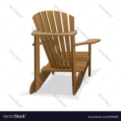 Wood Beach Chairs Chair Rental Brooklyn Wooden Royalty Free Vector Image Vectorstock