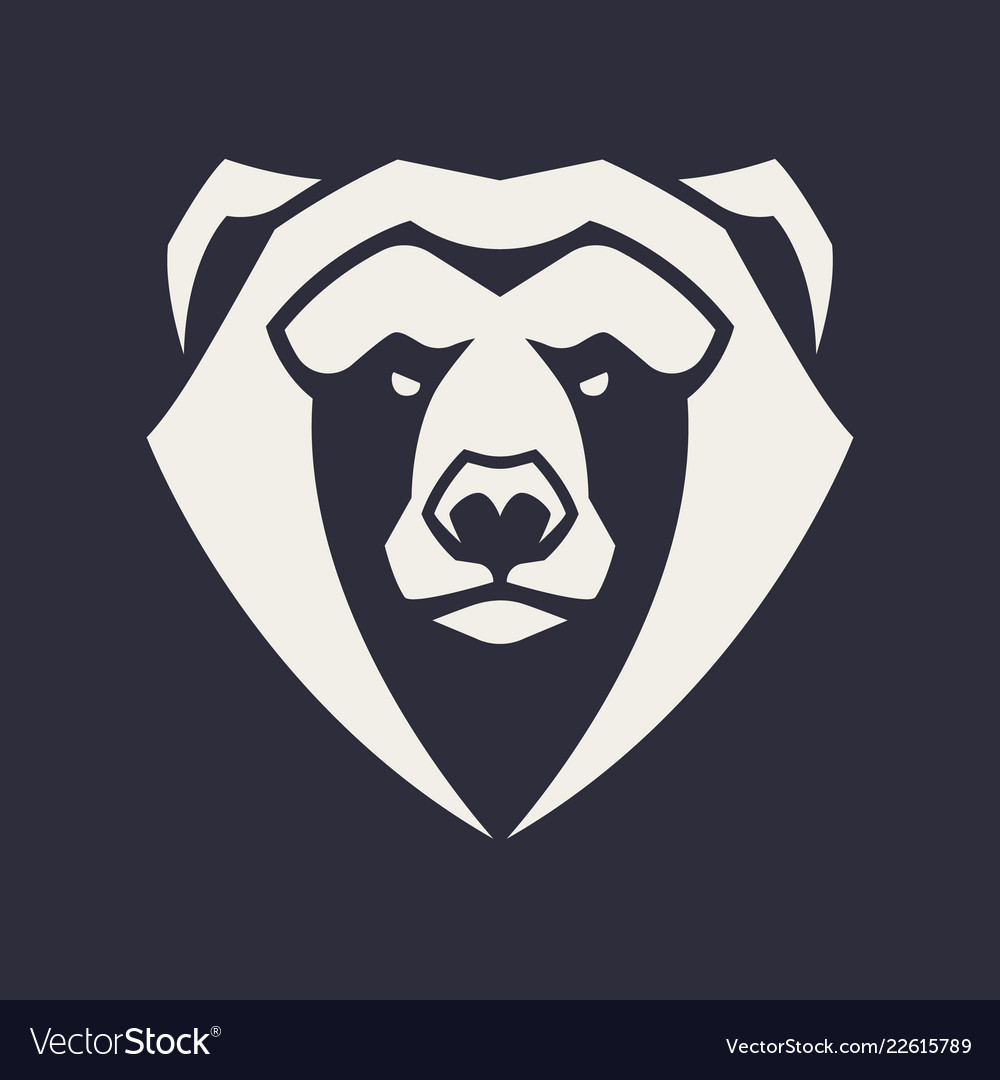 hight resolution of bear mascot icon vector image