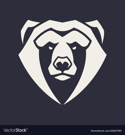 small resolution of bear mascot icon vector image