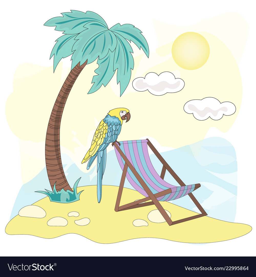 hight resolution of beach sea travel clipart color vector image