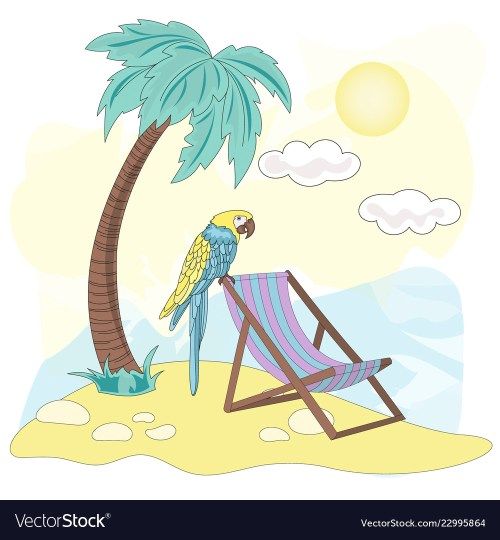 small resolution of beach sea travel clipart color vector image