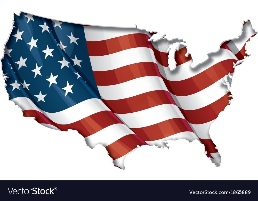 us flag map inner