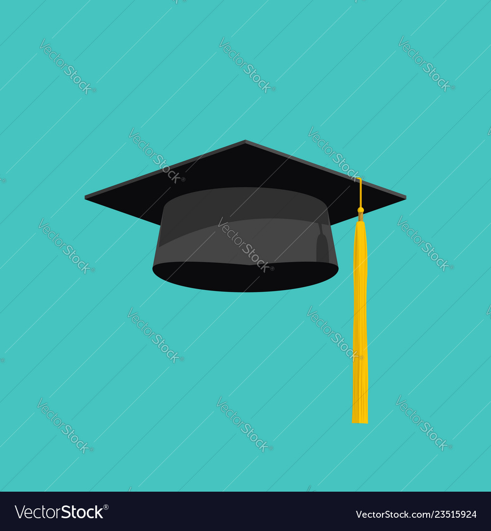 graduation cap isolated on