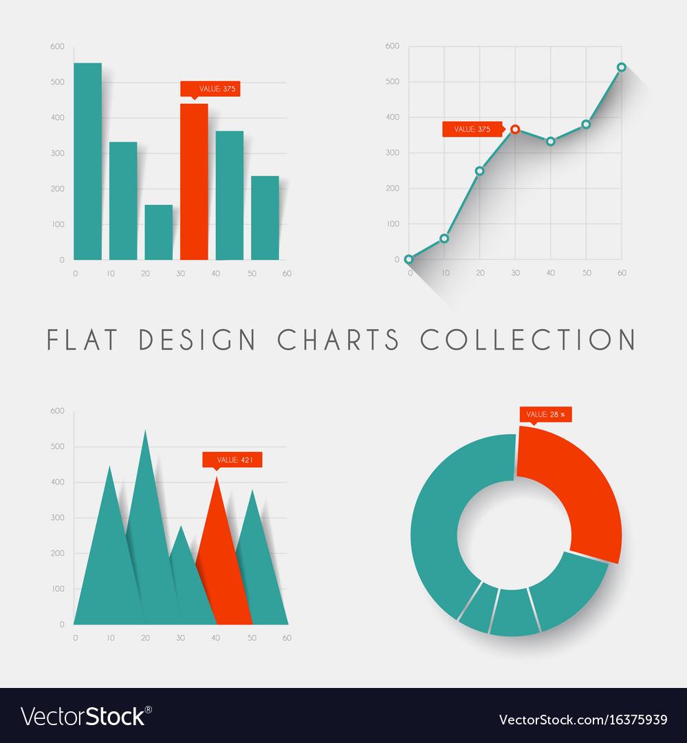 hight resolution of set of flat design statistics charts and graphs vector image 2 stroke carburetor diagram flat design diagram