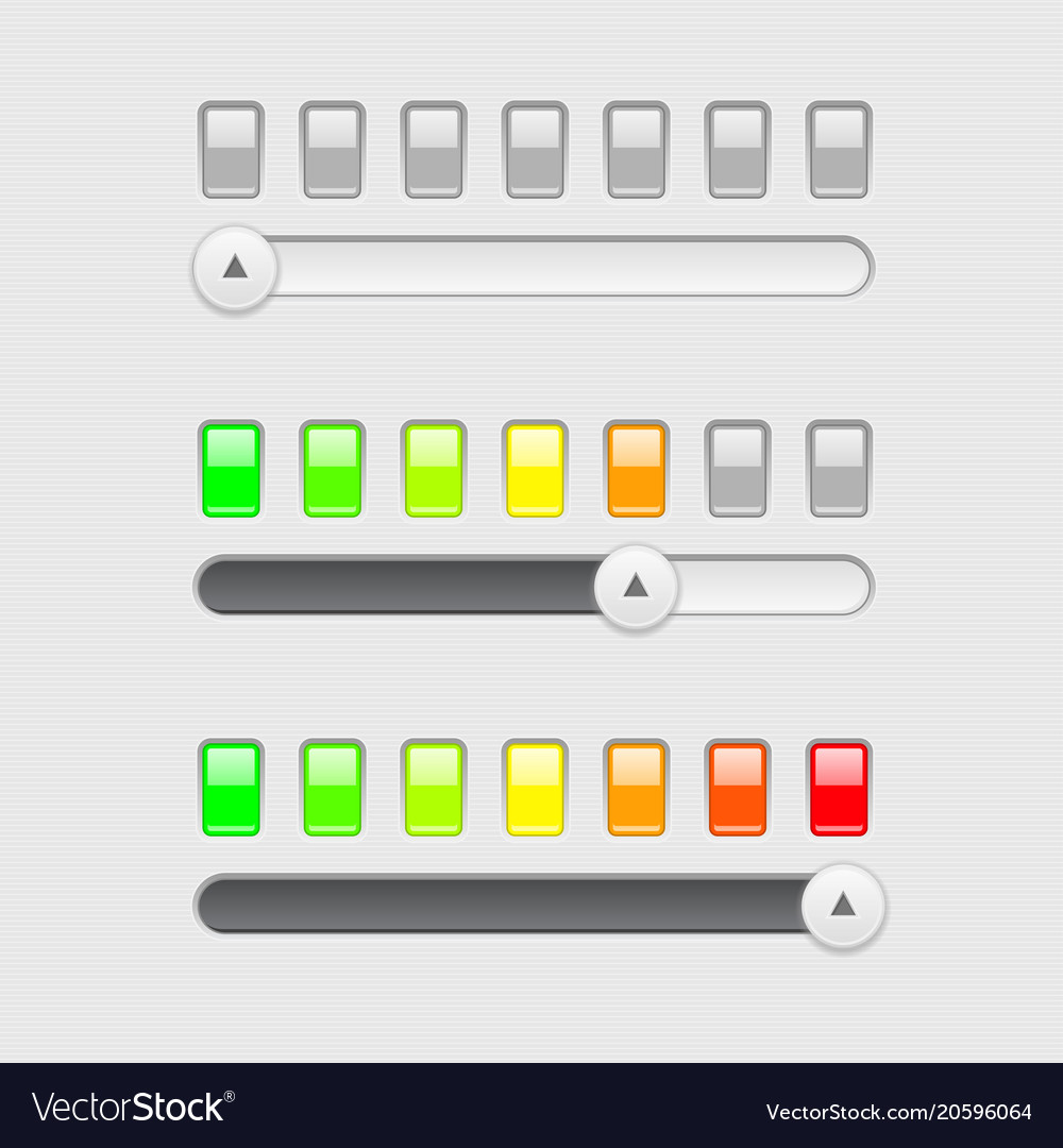 slider bar with colored