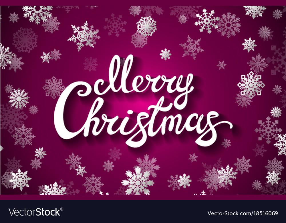 merry christmas glittering lettering