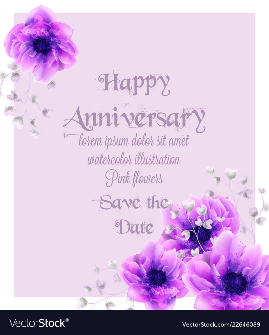 happy anniversary card with