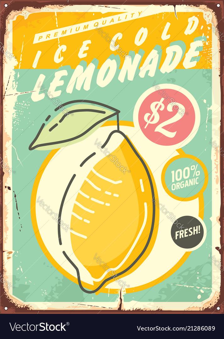 lemonade promotional retro poster